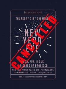 New Years Eve the old vicarage poster 2020 cancelled web