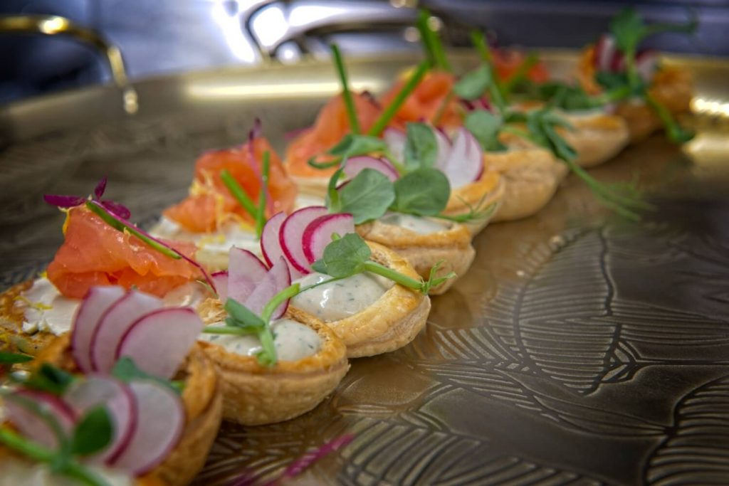 Canepes food foodie salmon 2 weddings in somerset at the old vicarage hotel and restuarant