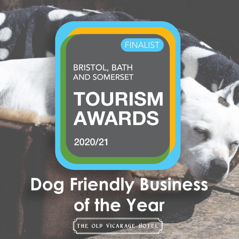 The Old Vicarage Hotel Bridgwater Somerset Tourism Awards 2020 21 Finalist 2020 21 Dog Friendly Business of the Year 768x768 1